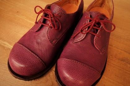 Kashima's purple shoes
