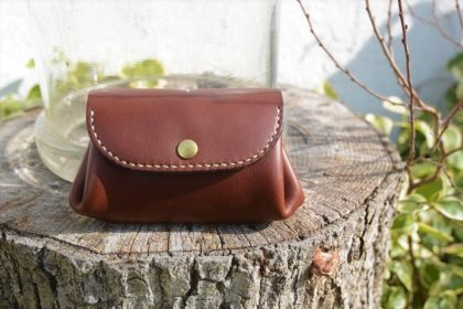 Leather walking wallet