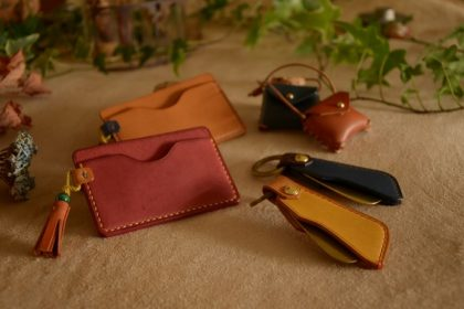 Leather accessory workshop sample