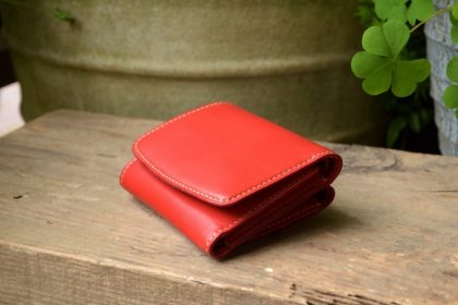 Red tri-fold wallet